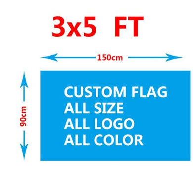 Custom Flag 3X5 ft - Any logo any color