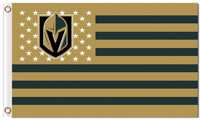 Vegas Golden Knights stars and stripes flag 90x150cm