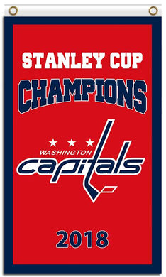 Washington Capitals Stanley Cup Champion 3x5ft Flag