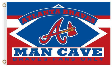 Atlanta Braves Man Cave Flag 3x5ft Baseball
