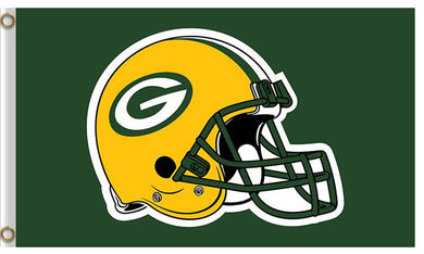 Yellow Helmet Green Bay Packers Flag 3X5Ft
