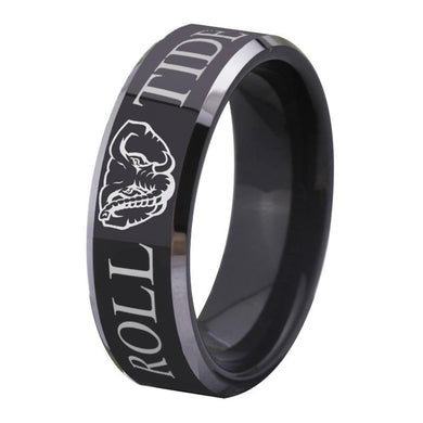 8MM Black Tungsten Alabama Championship Ring