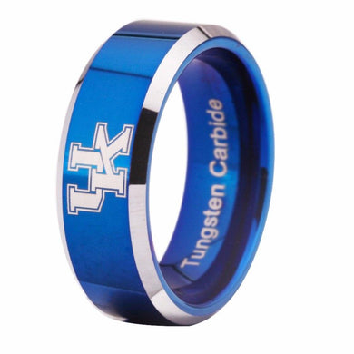 8MM Blue Tungsten Kentucky Wildcats Championship Ring