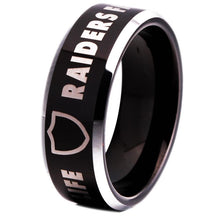 Load image into Gallery viewer, 8MM Black Tungsten Oakland Raiders Championship Ring