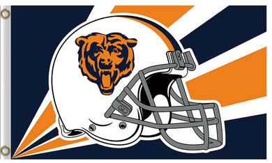 Chicago Bears Helmet Banners Flags 3ftx5ft