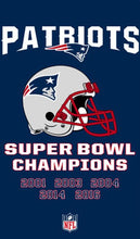 Load image into Gallery viewer, super bowl champions patriots Flags 3ftx5ft