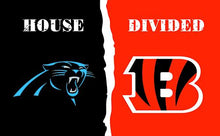 Load image into Gallery viewer, Carolina Panthers vs Cincinnati Bengals Divided Flag