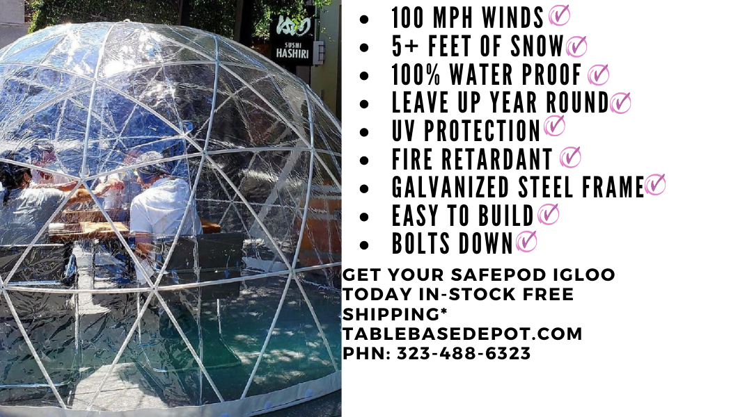 Safe Pod Patio Igloo 4 Person 3M Geodesic Dome Tent Square Zipper Entrance