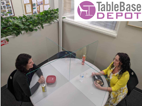 Interlinking Round Table Germ Barrier For Tables and Desks