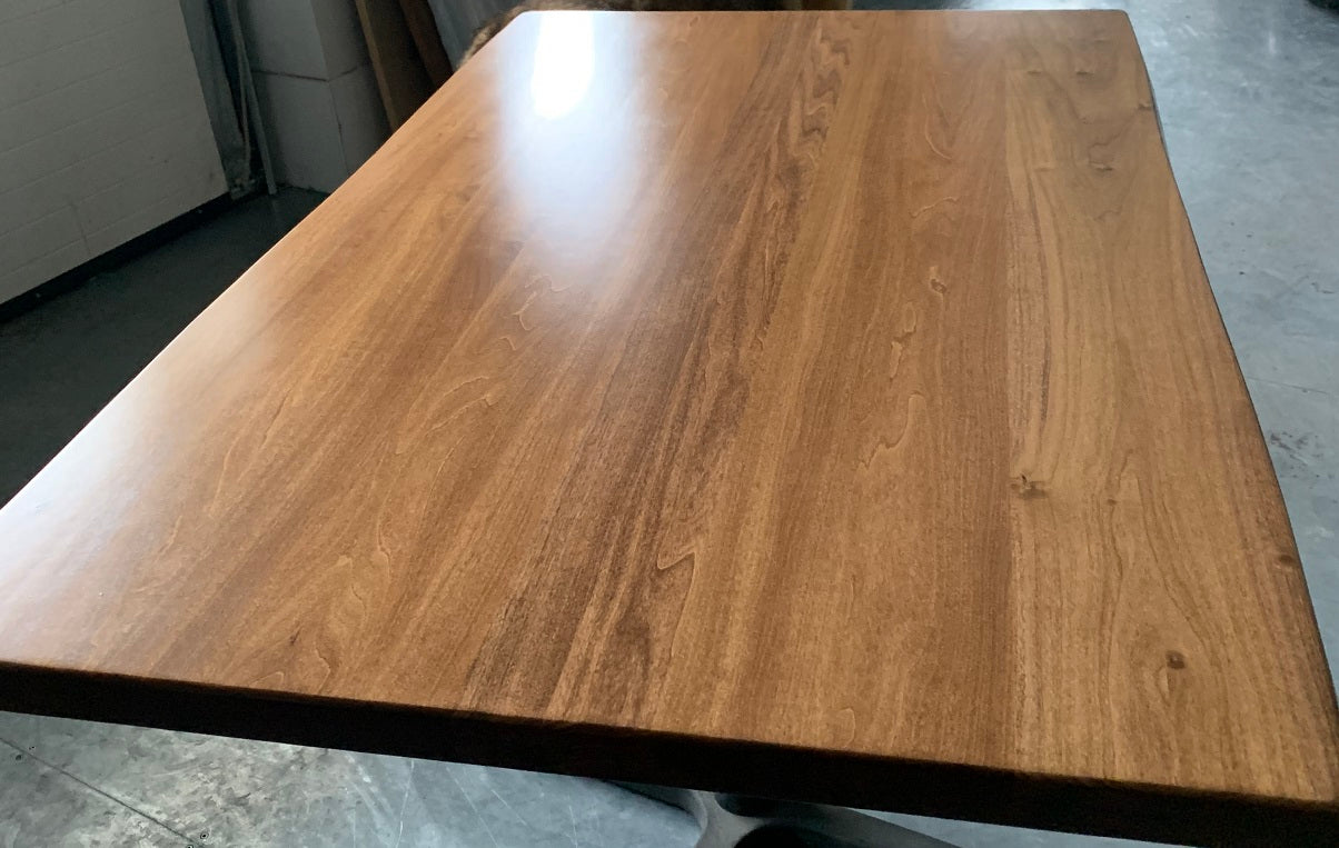 Medium Walnut Eastern Pine Live Edge Restaurant Table Tops