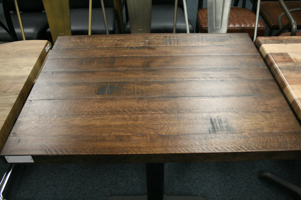 Reclaimed Rosewood Restaurant Table Tops Medium Walnut Finish