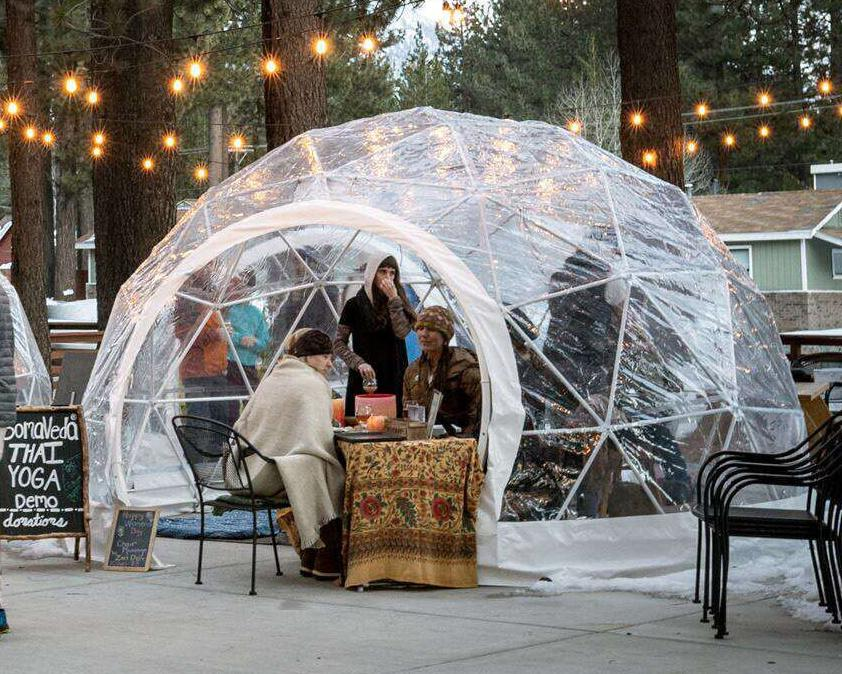 Safe Pod Patio Igloo 6 Person 4M Geodesic Dome Tent Circular Entrance