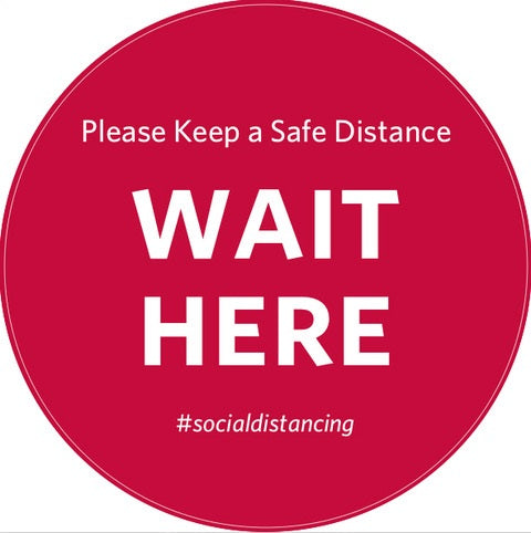 Social Distancing Floor Decal Stay Safe Tape