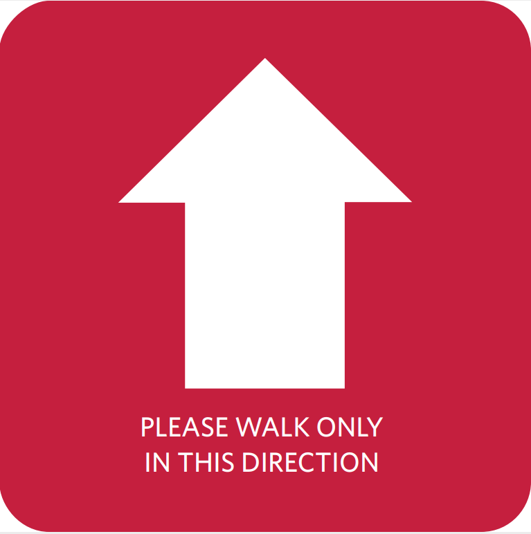 Directional Shopping Arrow Floor Decal Sticker Tape Anti Slip Commercial Grade Vinyl
