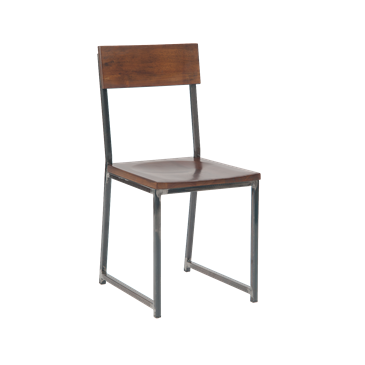 Vintage Washington Metal School Chair Walnut Finish