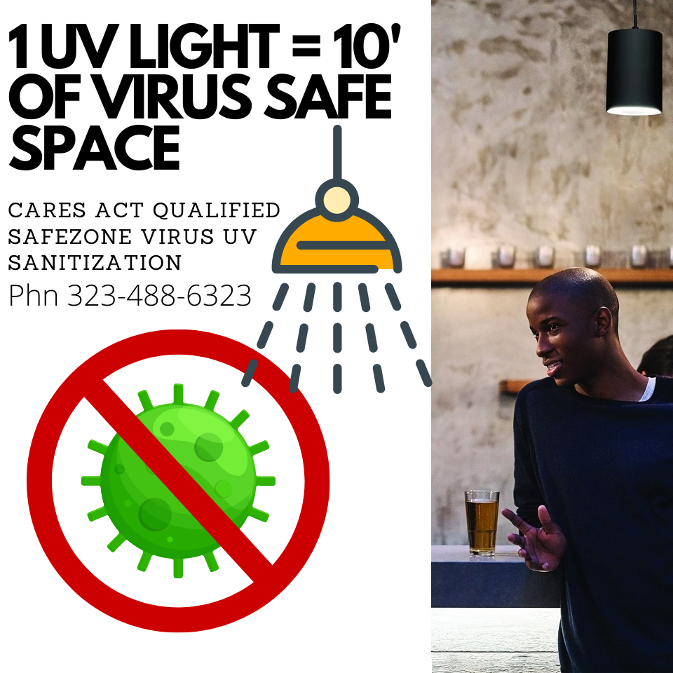 Safezone Virus UV Sanitization Light Real-Time Virus Mitigation Sanitization Human Safe Far UVC 222 Pendant