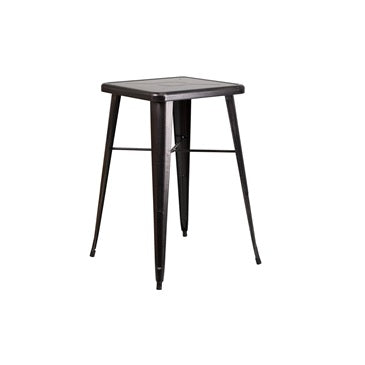 Bar Height Black Copper Galvanized Finish Tolix Table 24