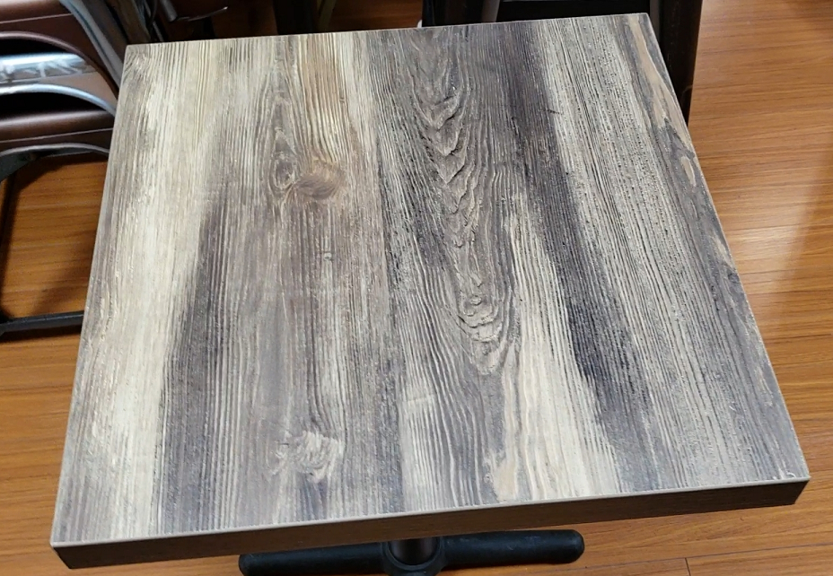 Aged Worn Oak Finish Melamine Table Top
