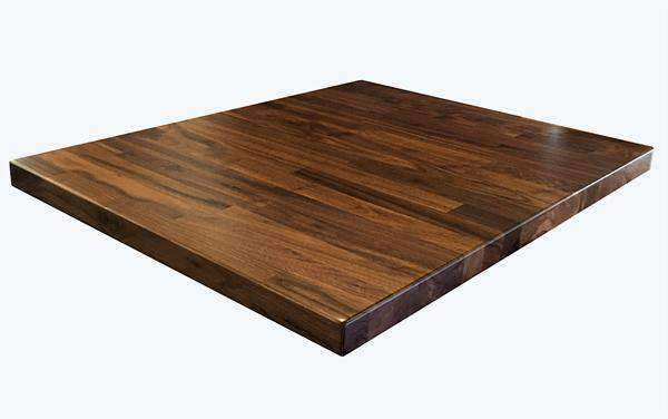 Solid Black American Walnut Table Tops