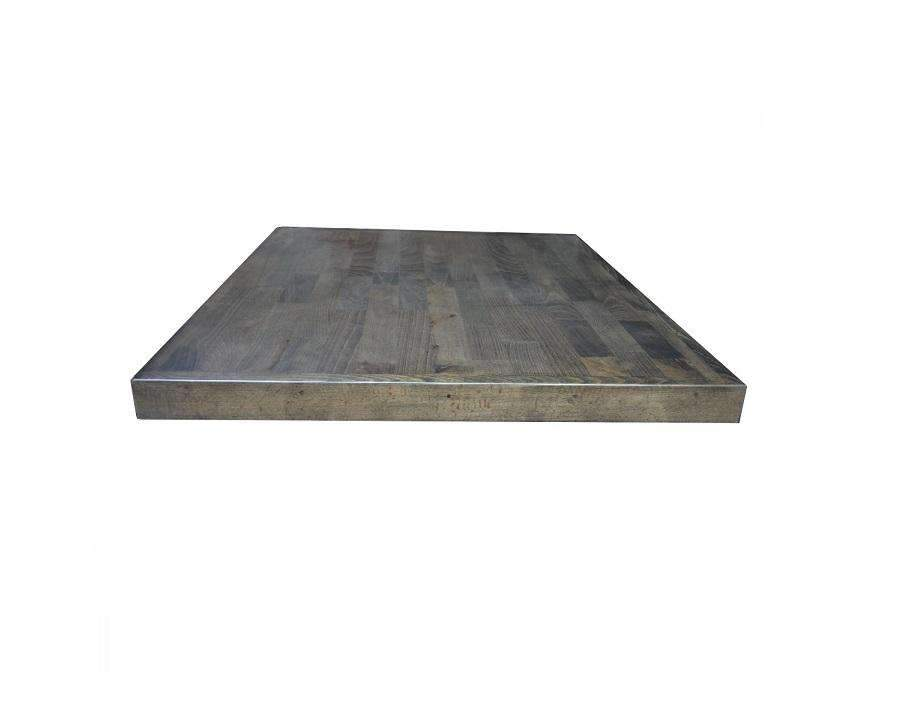 American Reclaimed Walnut Finish Beech Wood Table Tops 2 Inch Extra Thick