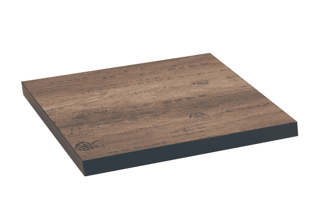 Antiquated Asian Themed Finish Melamine Restaurant Table Top