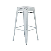 Antique Dream White Antique Tolix Bar Stool