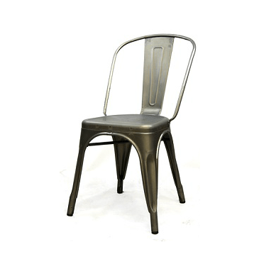 Antique Matte Gun Metal Finish Tolix Chair