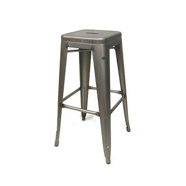 Antique Welded Matte Gun Metal Finish Tolix Bar Stool