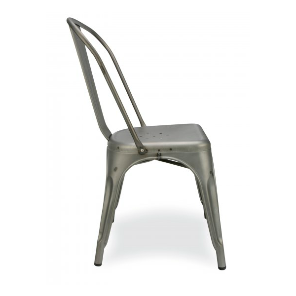Antique Welded Matte Gun Metal Finish Tolix Chair