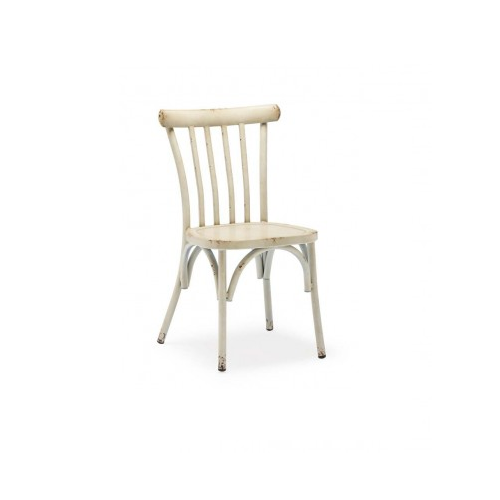 Antique Cream Finish Country Style Side Chair