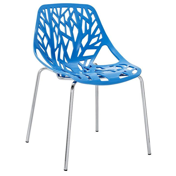 Arbour Contour Chair Chrome Metal Frame 4 Colors
