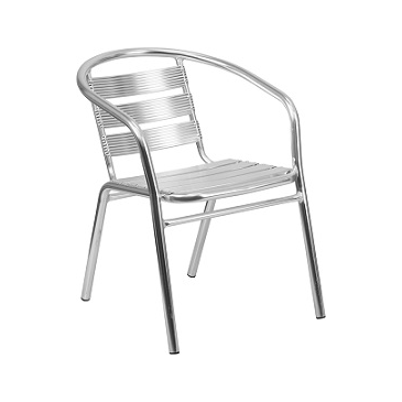 Ariana Polished Aluminum Arm Chair In-Outdoor