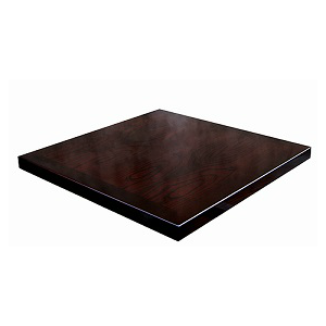 Ash Wood Veneer Table Top Espresso High Gloss Finish