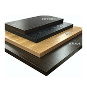 B-Quick Ship Indoor Laminate Table Tops Espresso Walnut Black Oak