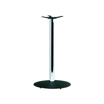 Bar Height Custom Black and Chrome Table Base 41