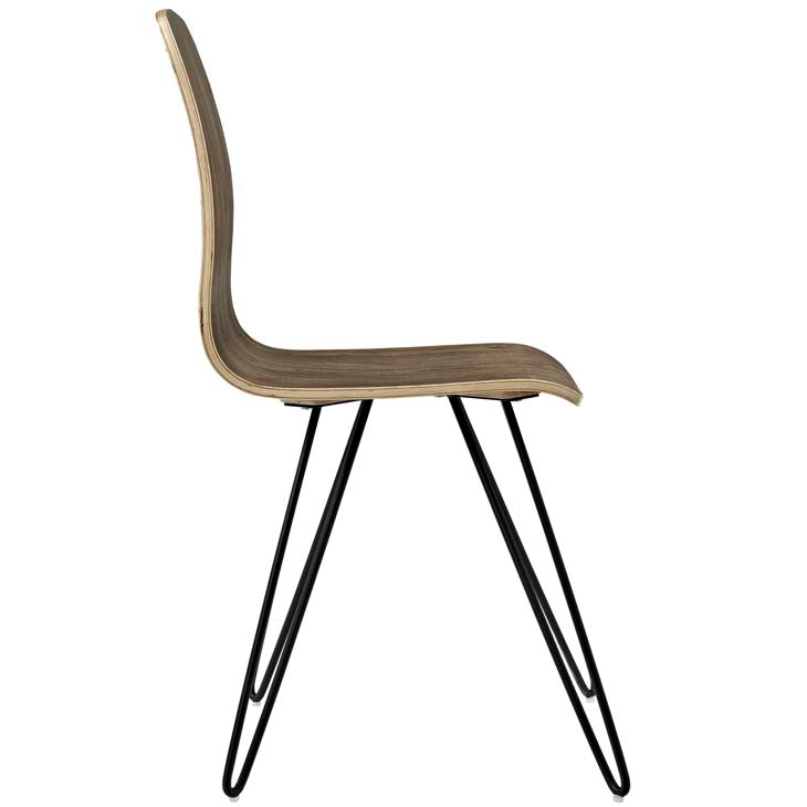 Beech Wood Drift Wood Paper Clip Leg Chair