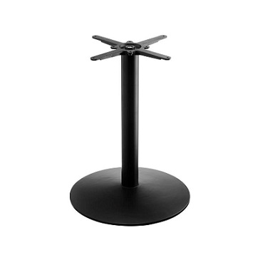 Black Traditional Round Table Base 17