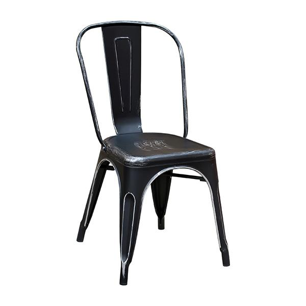 Black Weathered Finish Tolix Chair COMMERCIAL GRADE