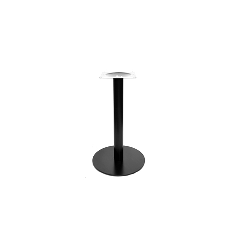 Black Modern Round Flat Table Base