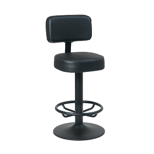 Branson Fully Upholstered Black Seat and Back Bar Stool