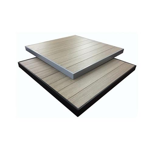 Brown Gray Wood Grain Pattern Composite Plasteek Outdoor Table Top