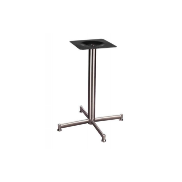 Brushed Steel Alexis Outdoor Indoor Criss Cross Table Base 24