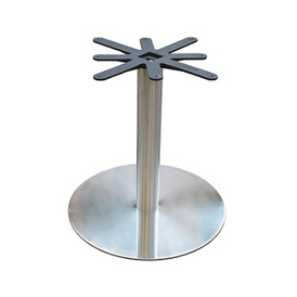 Brushed Steel Flat Disk Base 28