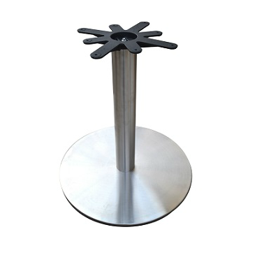 Brushed Steel Flat Disk Base 22