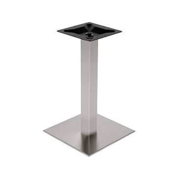 Brushed Steel Square Outdoor Table Base 22