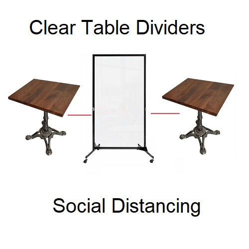 Clear Barriers For Restaurant Guests Social Distancing Easy Sterilization Dividers