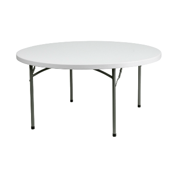 Commercial Grade Marble White Folding Table 60.2