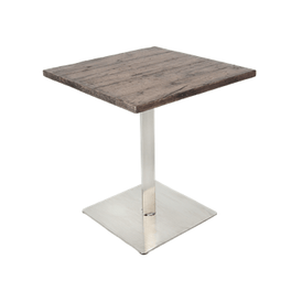Aged Barn Wood Concrete Fiber Glass Outdoor Table Top and Base