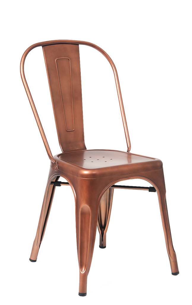 Custom Taw-Nee Copper Finish Tolix Chair