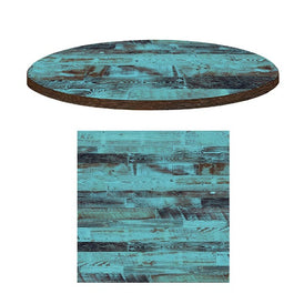 Custom Aged Blue Pine Wood Digital Art Engineered Laminate Table Tops